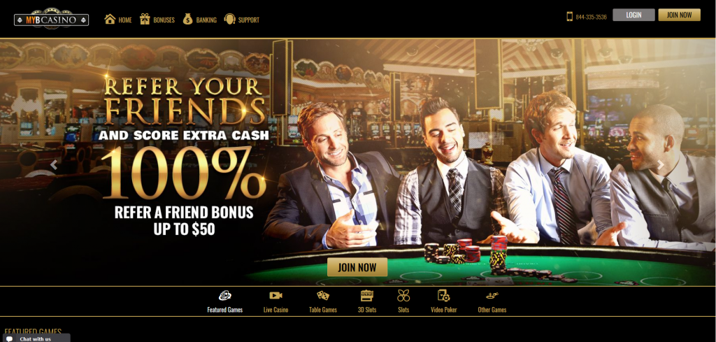 MYBCasino screenshot