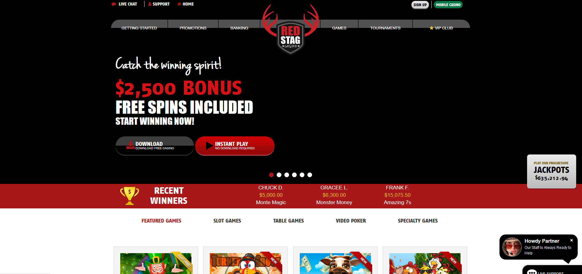 Red Stag Casino Screenshot