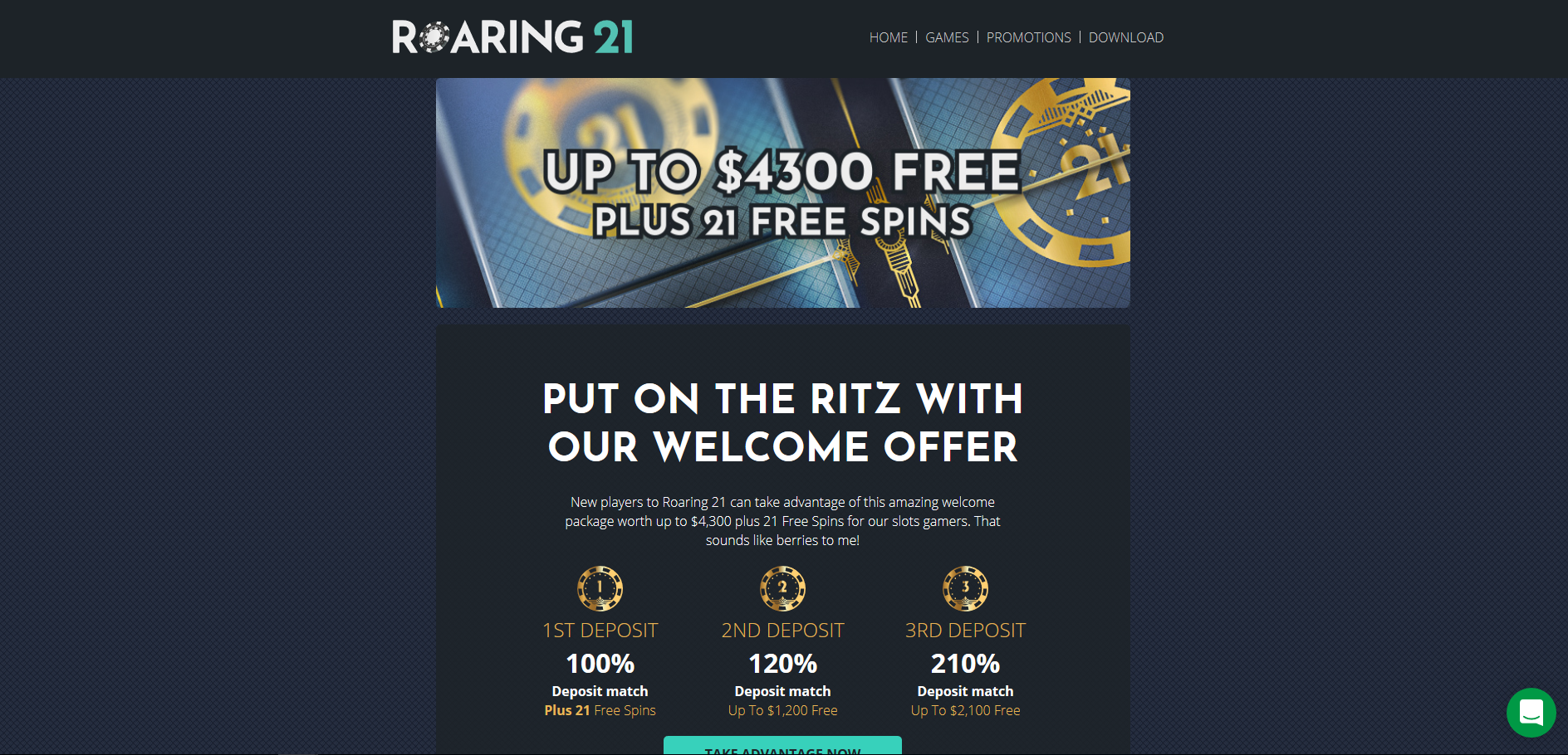 Roaring 21 Casino Screenshot