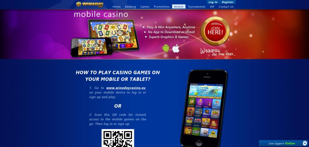 WinaDay Mobile Casino