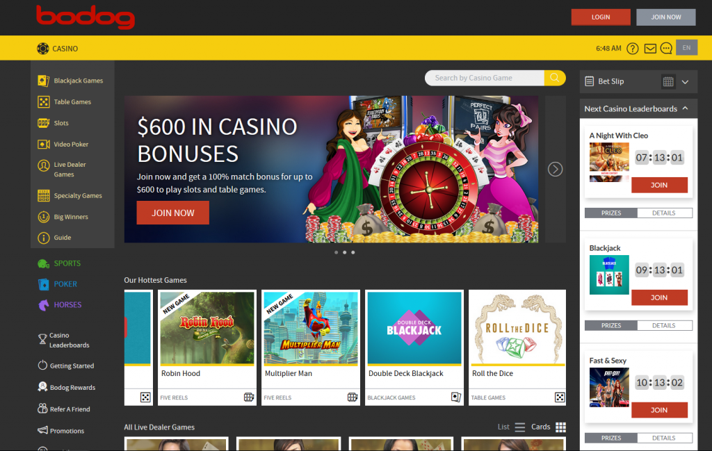 Bovada-Casino- Screenshot