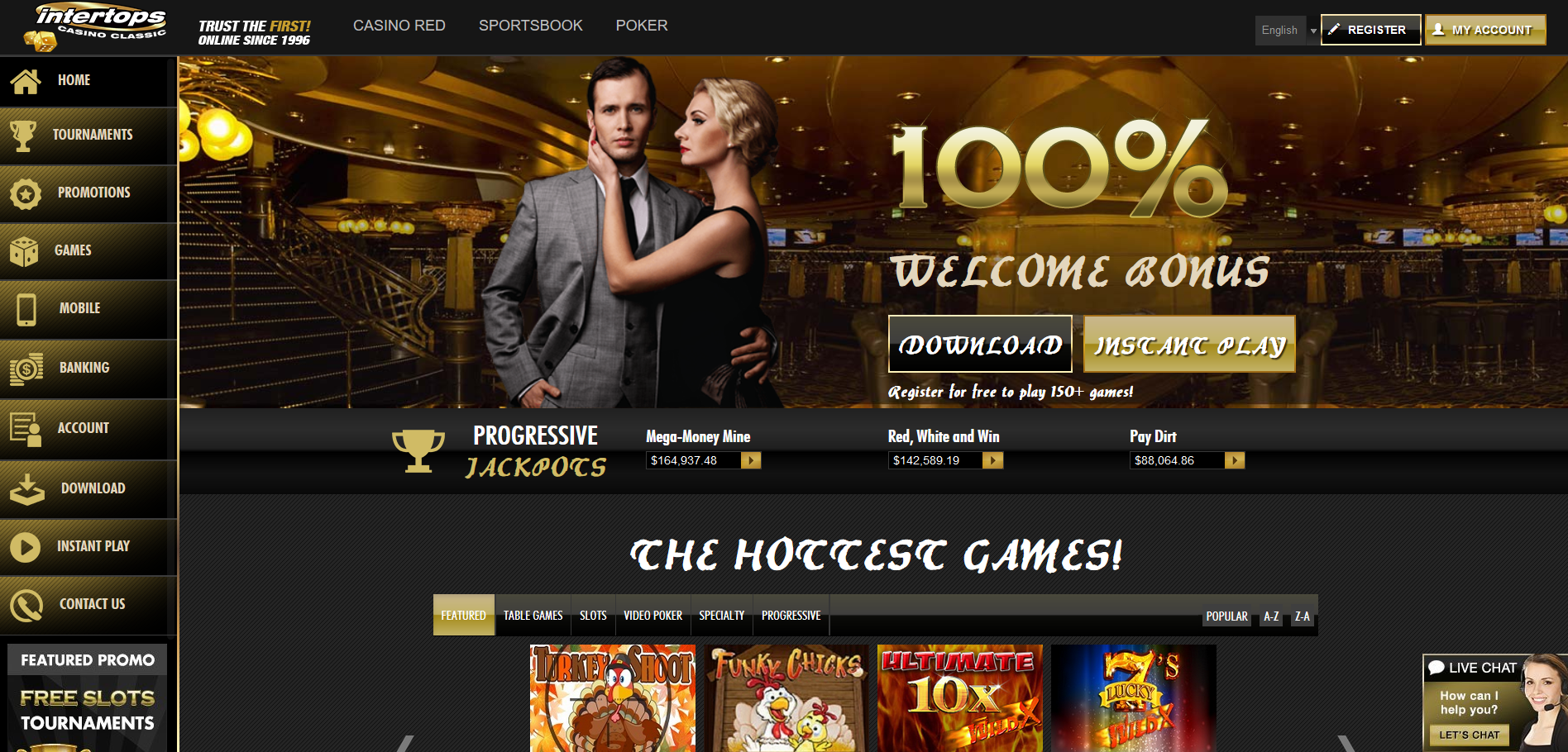 Intertops Casino Screenshot