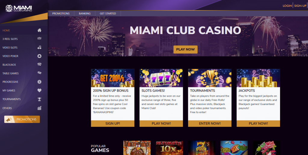 Miami Club Casino Screenshot