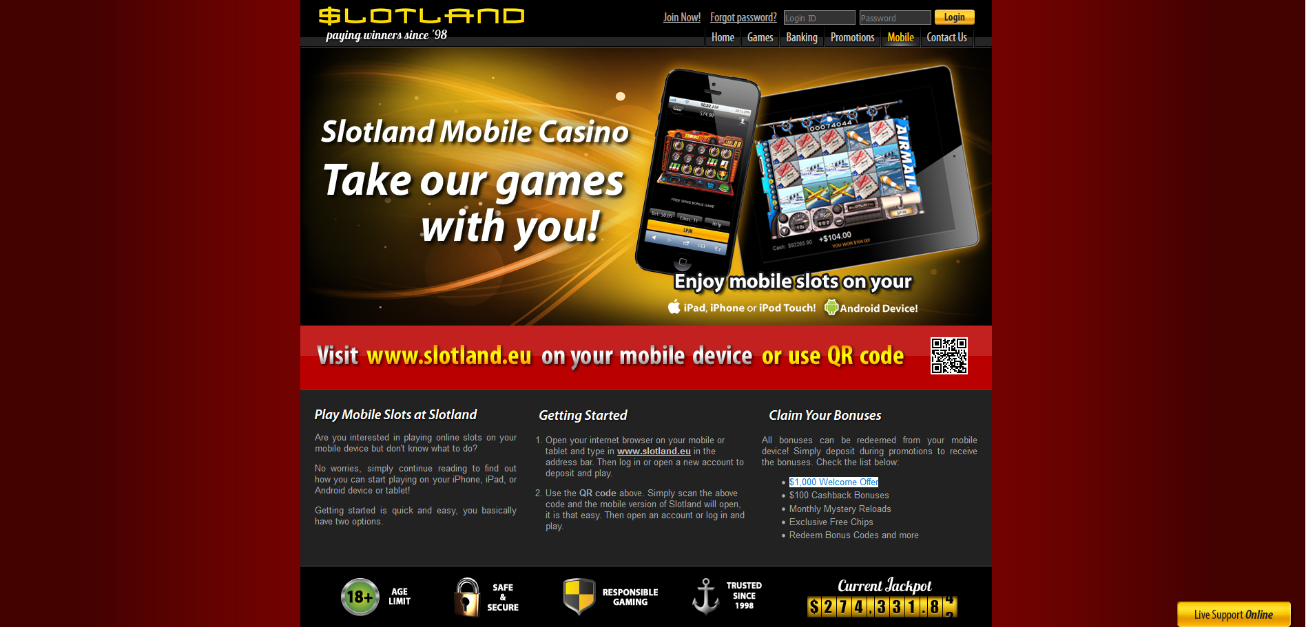 Slotland Mobile