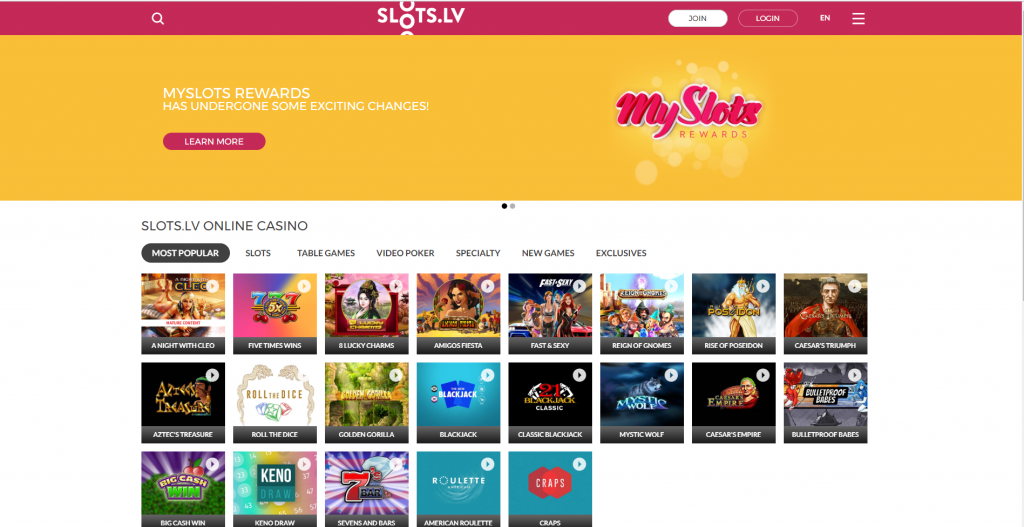 Slots.lv Mobile Casino